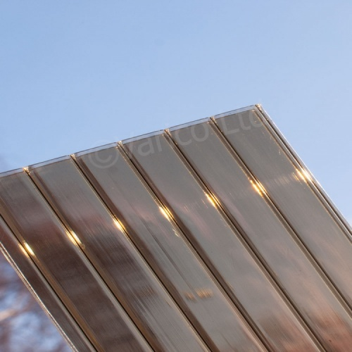 16mm Triplewall Polycarbonate Roofing Sheet Bronze