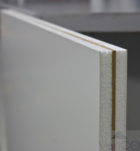 White Reinforced UPVC Door Panel 750mm X 750mm