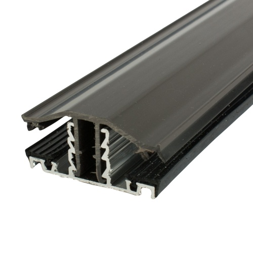 Polycarbonate Glazing Bar Brown Rafter Supported Snap