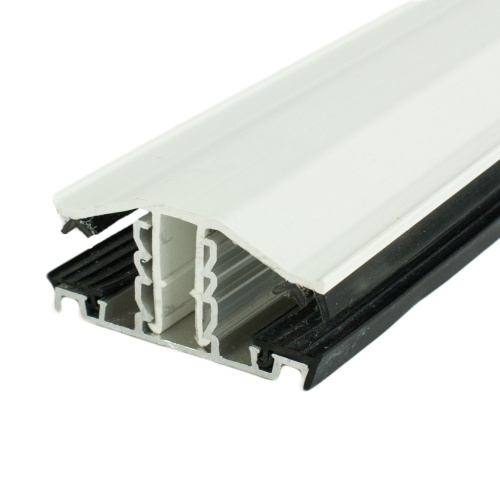 White Glazing Bar For Use With Polycarbonate Sheet