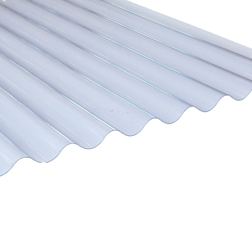 3''ASB Profile Corrugated PVC Sheet Lightweight 0.8mm Clear