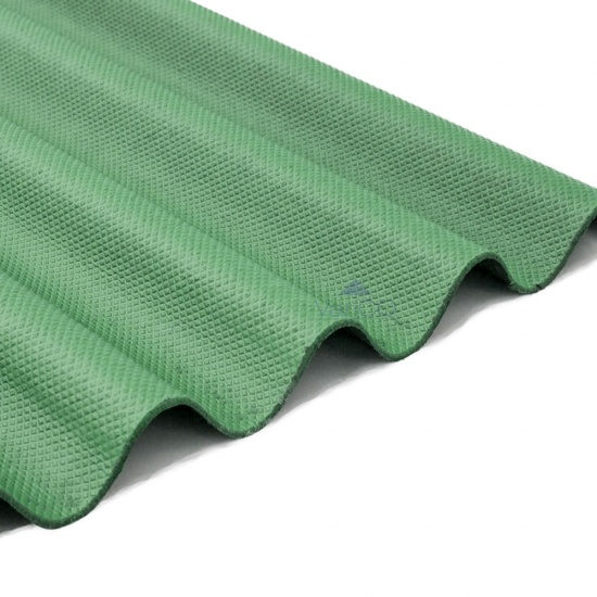 Corrugated Bitumen Roofing Sheets Green