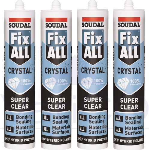 Soudal Fix All Crystal Clear Sealant Trade Pack