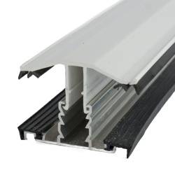 Rafter Supported Glazing  Bars For 35mm Polycarbonate White