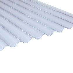 3''ASB Profile Corrugated PVC Sheet Superweight 1.3mm Clear