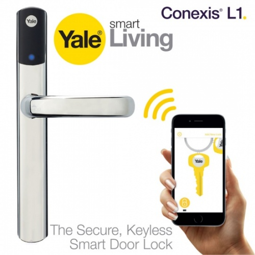 Yale Conexis L1 Smart Door Lock Security Handle Chrome