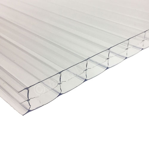 16mm Triplewall Polycarbonate Roofing Sheet Clear