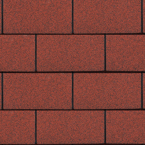 Bitumen Roofing Shingles Red 3 Tab 3m² Pack