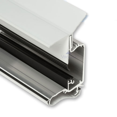 Wall Plate To Suit Self Support Glazing Bars White