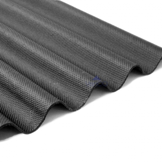 Black Corrugated Bitumen Roofing Sheets 950 X 2000mm