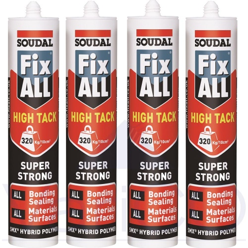 Soudal Fixall High Tack Value Trade Pack Of 4 Tubes