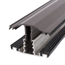 Rafter Supported Glazing  Bars For 25mm & 35mm Polycarbonate Brown