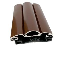 Aluminium Capped Screw Down Glazing Bar Brown