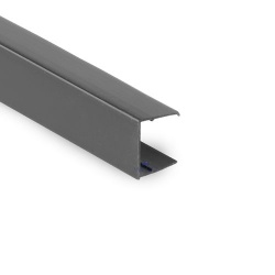 Polycarbonate End Closure Anthracite Grey