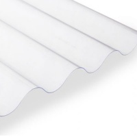 Clear PVC Sheets For Use With Corrugated Bitumen Sheets
