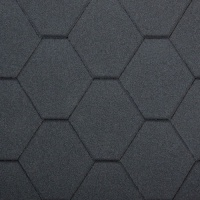 Bitumen Roofing Shingles Black Hexagonal 3m² Pack