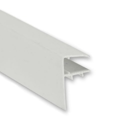 PVC F-Section For Polycarbonate Sheet White