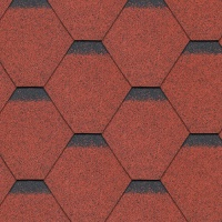 Bitumen Roofing Shingles Red Hexagonal 3m² Pack