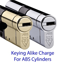 Keyed Alike Charge For ABS Euro Cylinders (1 X Charge Per Keyed Alike Cylinder)