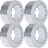 Aluminium Foil Tape 48mm Wide X 50M Long Trade Pack 4 Rolls