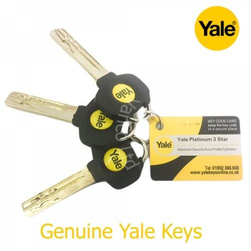Extra Key For Yale Platinum Euro Cylinder (1 X Additional Key)
